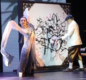 การแสดงเต้นรำหมึกจีน