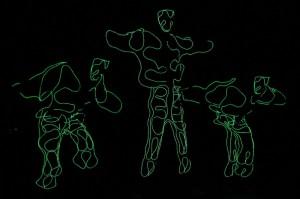 การแสดงเต้นไฟฟ้า โดยกลุ่มนักเต้นไทเกอร์