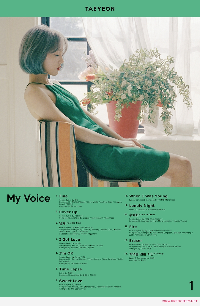 TAEYEON The 1st Album Track list