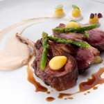 Elements_Iberico lamb rack green asparagus, jerusalem artichokes, cepe and ginko nuts