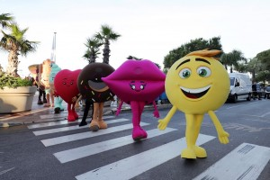 CANNES, FRANCE - MAY 16:  `The Emoji Movie' takes on Cannes at the start of the 70th Cannes Film Festival at The Carlton Pier on May 16, 2017 in Cannes, France.  (Photo by Neilson Barnard/Getty Images for Sony Pictures)