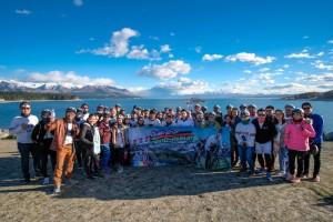 ผู้โชคดี ถ่ายภาพกับวิวที่งดงามของทะเลสาปพูคากิ