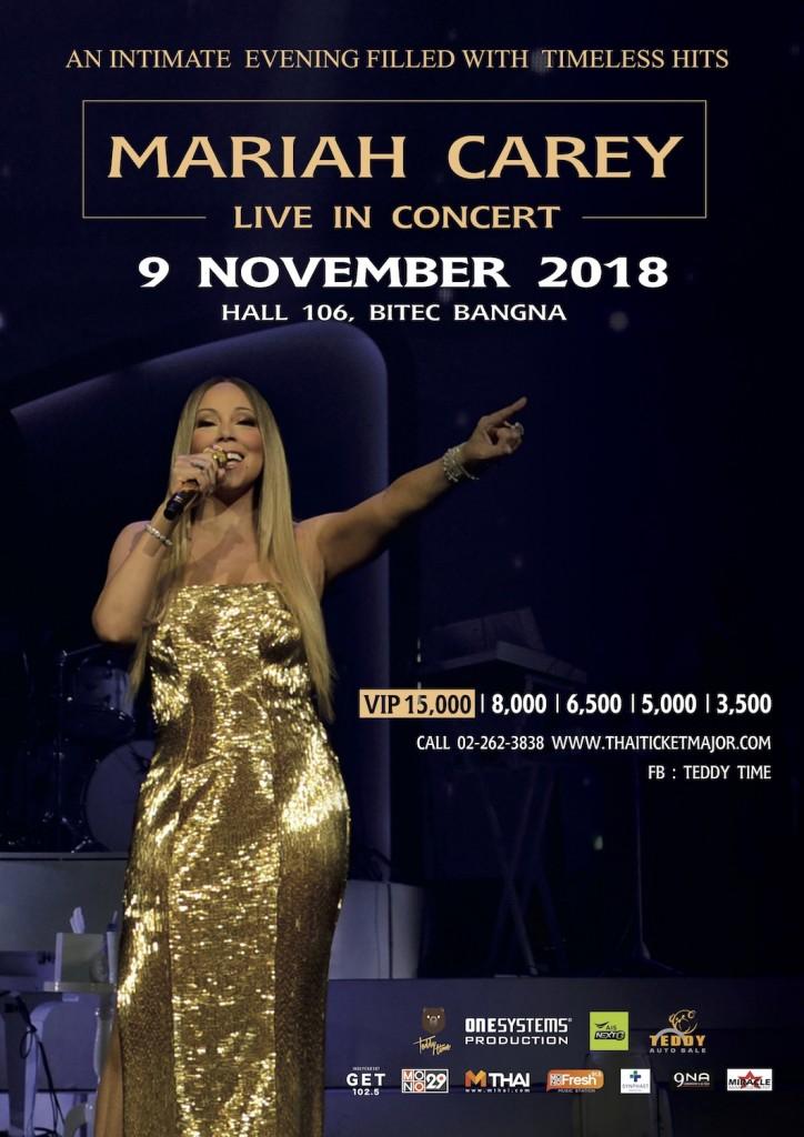 Poster Mariah Carey Live in Concert, Bangkok 2018