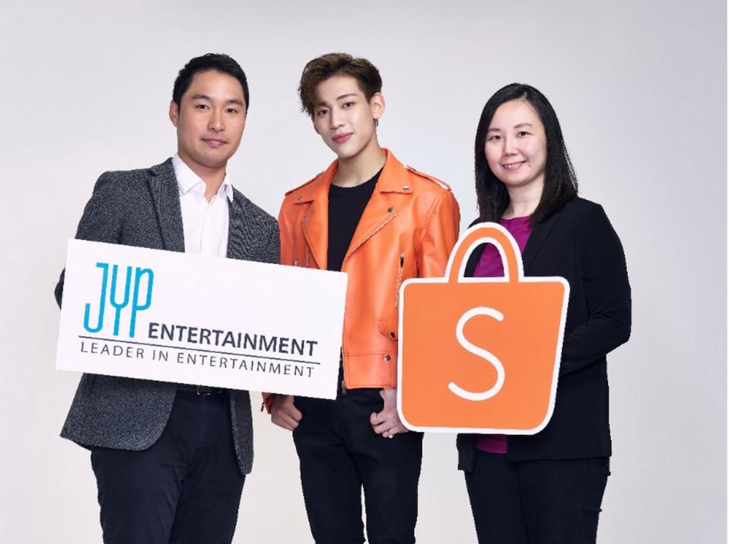 Shopee x JYP Partnership Photo