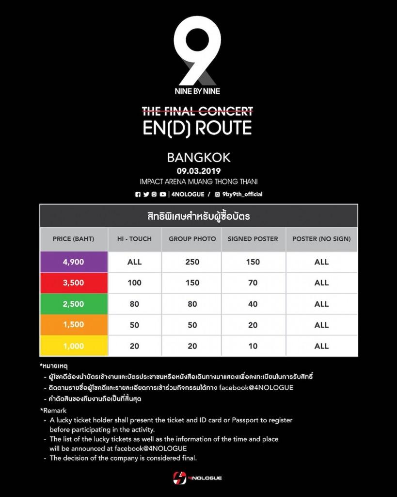 """สิทธิ์ """"9x9"""" THE FINAL CONCERT  EN[D] Route"""