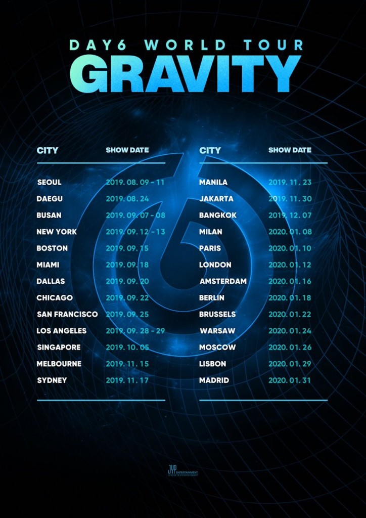 DAY6 - GRAVITY_World Tour