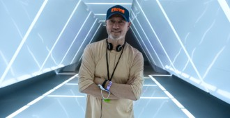Director Roland Emmerich on the set of Moonfall. Photo Credit. Reiner Bajo